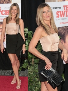 Jennifer Aniston in Lanvin Mini Dress