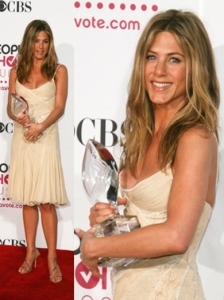 Jennifer Aniston in Versace Slip Dress