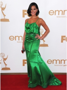 Olivia Munn in Carolina Herrera Green Gown