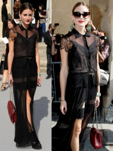 Olivia Palermo in Christian Dior Sheer Dress