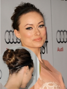 Olivia Wilde Twisted Bun with Headband