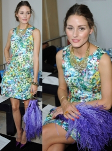 Olivia Palermo in Zara Floral Dress