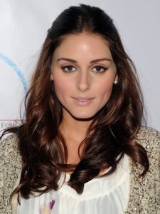 Olivia Palermo Glossy Brunette Hair Color