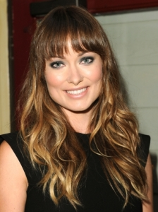 Olivia Wilde Wavy Hairstyle with Bangs