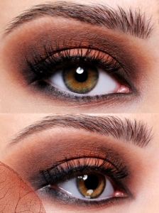 Orange and Brown Eye Makeup Look