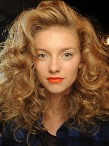 Orange Lips Makeup Idea