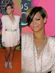 Rihanna in Christian Dior Belted Dress