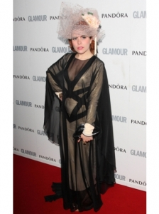 Paloma Faith in Sheer Dress and Piers Atkinson Hat