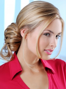 Glossy Loose Updo Hair Style