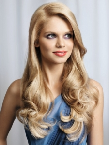 Super-Long Blonde Hair Style