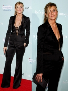 Jennifer Aniston in Burberry Prorsum Pant Suit