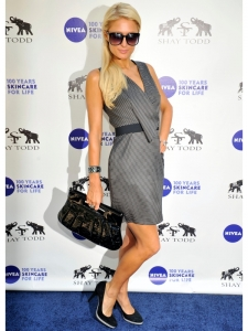 Paris Hilton Thin Striped Dress