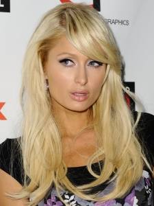 Paris Hilton Long Hairstyle with Side Bangs