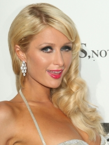 Paris Hilton Long Side Sweep Hairstyle
