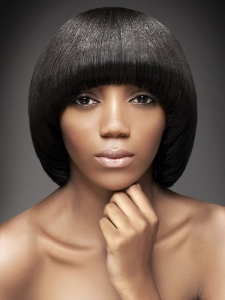 Super-Sleek Medium Black Haircut