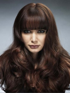 Super Thick Bangs Long Hair Style