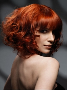 Red Curly Hair Style