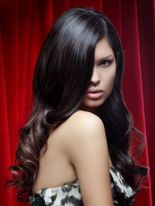 Romantic Dropped Curls Hair Style