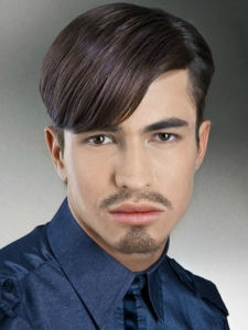 Men's Long Bangs Haircut