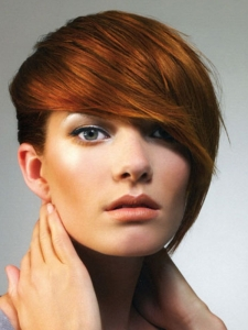 Long Bangs Red Hair Style