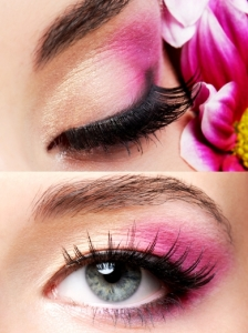 Peach and Pink Eye Makeup Look