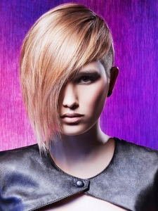 Stylish Long Bangs Short Hair Style