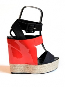 Pierre Hardy Black and Red High Platforms