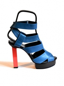 Pierre Hardy Blue Strappy Sandals