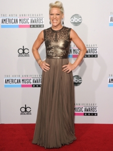 P!nk in Catherine Deane at the 2012 AMAs