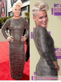 Pink in Stella McCartney Metallic Gown