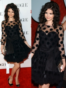 Selena Gomez in Luella Polka Dot Dress