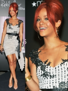 Rihanna in Mandalay Polka Dot Dress