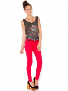 Primary Red Skinny Jeans