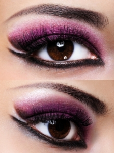 Purple and Black Eye Makeup Look