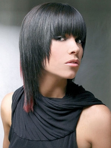 Two-Tone Medium Hair