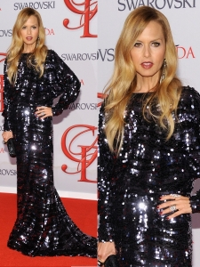 Rachel Zoe in Sequin Gown at 2012 CFDA Fashion Awards