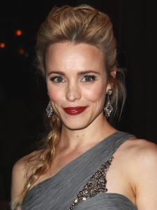 Rachel McAdams Bump Hairstyle with Braid
