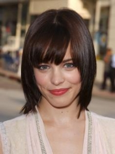 Rachel McAdams with Sleek Layered Bob Haircut