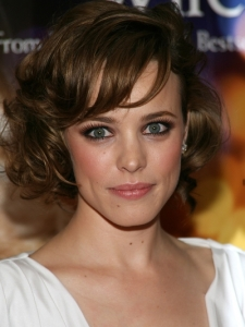 Rachel McAdams Retro Curly Bob Hairstyle
