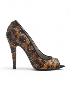 Raphael Young Animal Print Peep Toe Pumps
