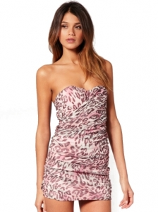 Rare Cut Out Layered Printed Bandeau Dress
