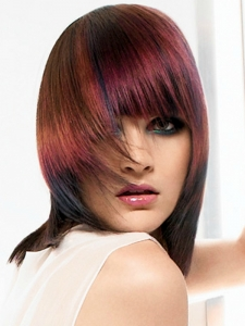Colorful Red Hair Highlights