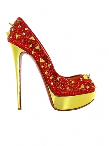 Christian Louboutin Very Mix Red Strass Pump