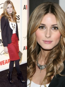 Olivia Palermo in Topshop Red Skirt