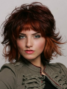 Medium Layered Tousled Haircut