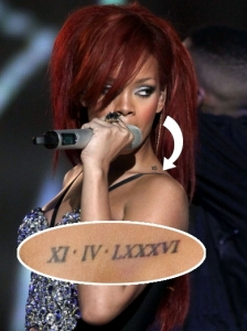 Rihanna Shoulder Tattoo