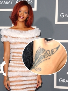 Rihanna Tribal Hand Tattoo