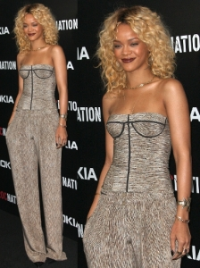 Rihanna in Bottega Veneta Corset and Pants
