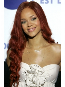 Rihanna Long Spiral Curls Hairstyle