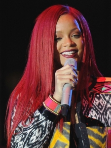 Rihanna's New Long Red Hairstyle